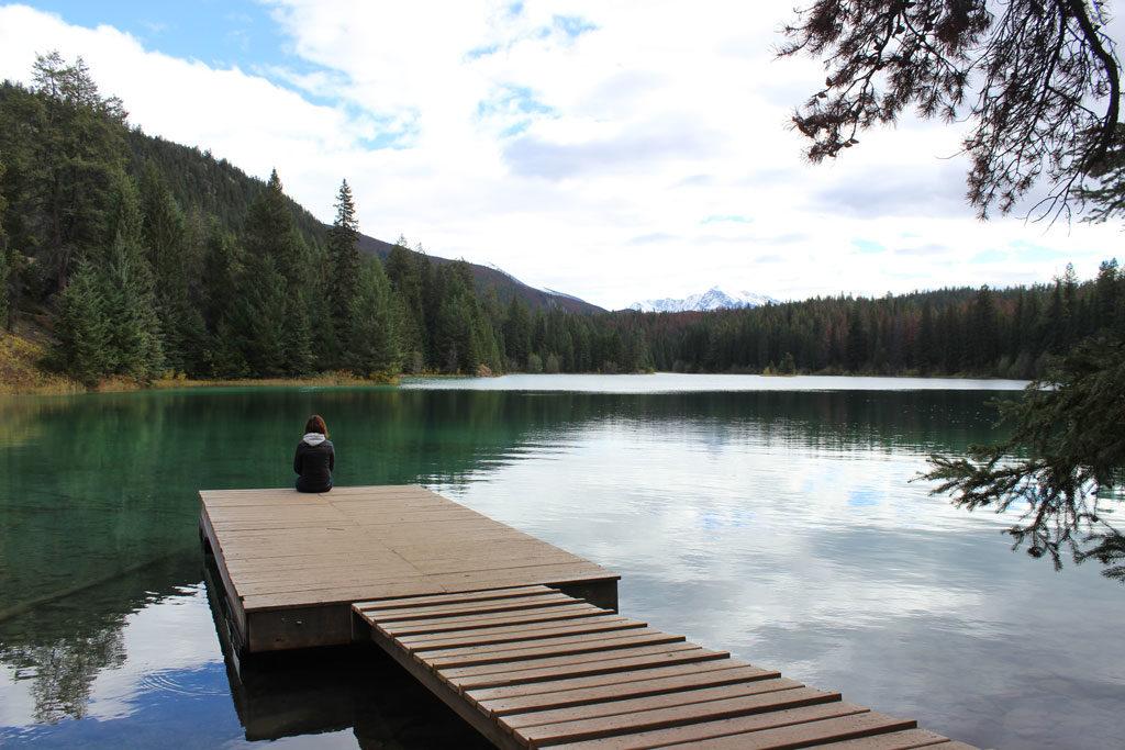 La vallée des 5 lacs dans les Rocheuses près de Jasper