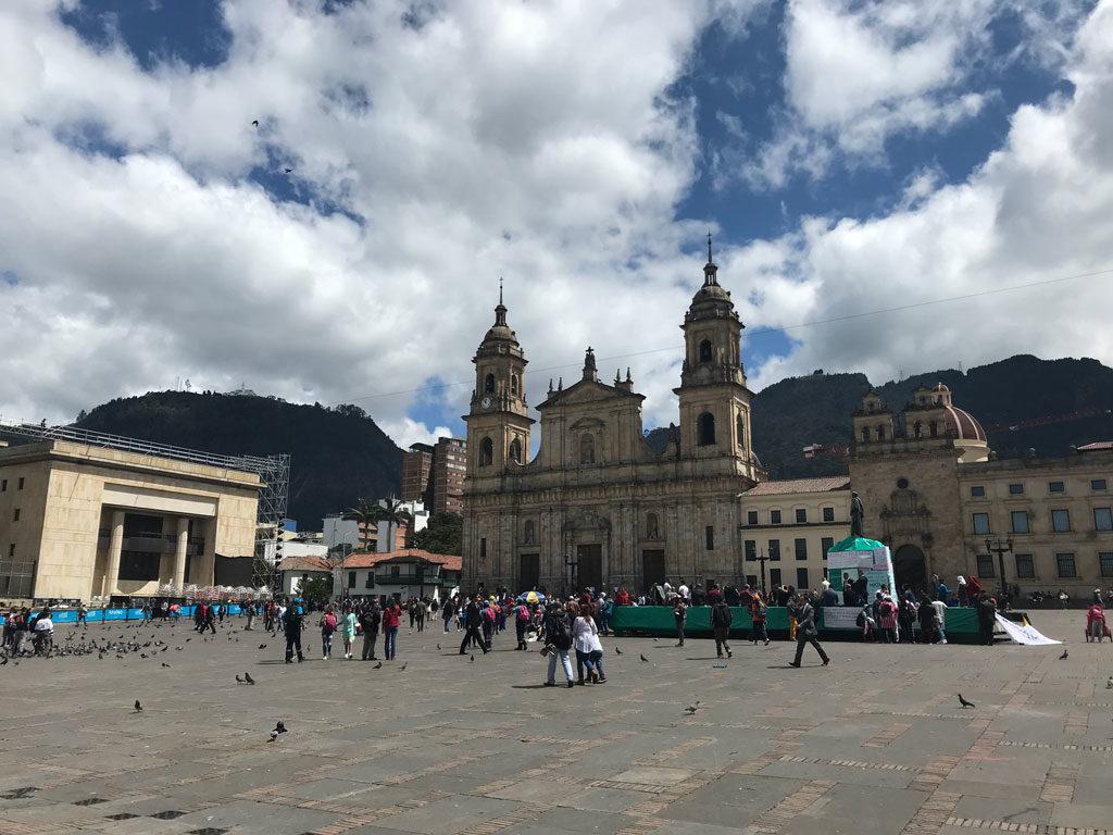 Bogota - Colombie - Plaza Bolivar - Parenthèse Colombienne