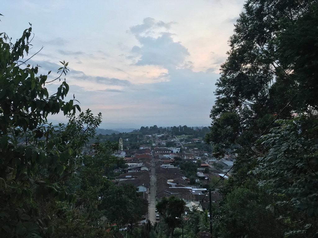 Vue depuis le mirador de Salento en Colombie
