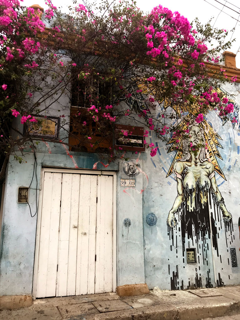 Le street art dans les rues de Carthagène